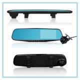 Carro duplo DVR do espelho da câmera da lente do auto gravador de vídeo da came do traço