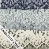 Tela de nylon do laço do algodão do projeto de Pattem da flor