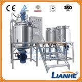 Mezcladora de emulsión del homogeneizador del vacío con los tres tanques