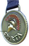 Medalla de la concesión para Sparta con latón de la antigüedad de la insignia 3D