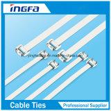 Releasable Kabel van het Sluiten bindt de Banden van de Kabel van het Roestvrij staal