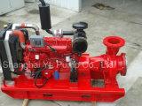 Pompe centrifuge d'aspiration horizontale de fin d'étape simple