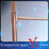 陳列だな(YZ161801)のステンレス鋼の陳列台の表示棚のハンガーラック展覧会ラック昇進ラック