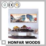 Moldura de madeira clássica para decoração de parede