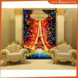 Таможня напечатала тип красивейший пейзаж башни Париж печати холстины пейзажа в нет конференц-зала: Hx-4-048