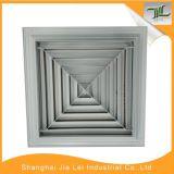 Diffuseur de voie de l'aluminium 4, diffuseur carré de plafond pour la climatisation