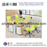 나무로 되는 사무실 워크 스테이션 금속 다리 지원실 테이블 (WS-01#)