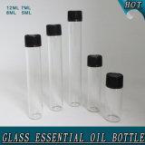Frasco de perfume de vidro cosmético limpo garrafa de tubo de óleo essencial