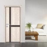 Porte en bois de pièce de modèle à panneau plat écologique (GSP12-010)
