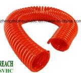 Manguito de aire espiral de la PU del poliuretano con las guarniciones (8*12m m)