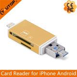2 en 1 Metal Microsd (TF) + lecteur de carte SD OTG pour Smartphone (YT-R004)