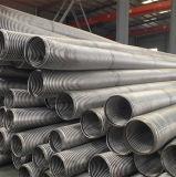 Tuyau métallisé flexible en acier inoxydable ondulé