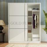 Конструкция шкафа шкафа самомоднейшей двери шкафа 2 спальни деревянная (SZ-WDT004)