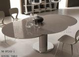 最も新しいグループの現代楕円形のガラスチューリップのダイニングテーブル(NK-DT266-1)