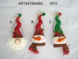 """21 """" Hx9 """" L empilant vers le haut du jouet de cadeau de décoration de Noël de bonhommes de neige"""