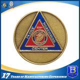 柔らかいエナメル(Ele-C028)が付いている昇進の旧式な真鍮の楕円形の硬貨