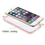 金属iPhone 6/6s/6のための空TPU+PCの電話箱と