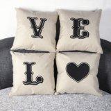 新しいホームリネン綿のウエストの投球の枕カバーのソファーのクッションの枕