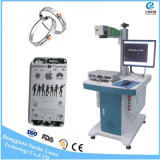 machine d'inscription de laser de la fibre 20W pour le produit matériel de code de Qr d'ABS du plastique pp en métal