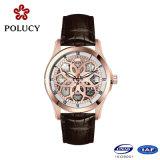 Montres-bracelet de luxe mécaniques squelettiques de Mens de fournisseur de la Chine d'acier inoxydable