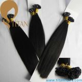 Indian Remy Hair Product Straight Black Nail Extensão do cabelo humano