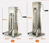 高品質のレストラン装置の手動ソーセージの注入口のステンレス鋼の注入口