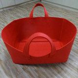壊れやすい商品のための卸し売り大きい容量の赤のフェルトの記憶袋