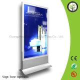Rectángulo ligero de aluminio publicitario impermeable al aire libre de la plata LED