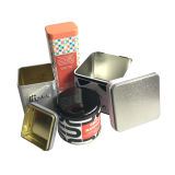 سدودة غطاء شاي قصدير صندوق بيع بالجملة عالة طباعة