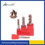 4つのフルートは金属のための半径の端の製粉カッターに角を付ける