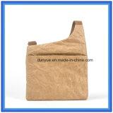 Popular OEM Nuevo material DuPont bolsa de papel Messenger, Eco-Friendly Promoción Tyvek bolsa de compras de papel Shool bolsa con Nylon Cinturón ajustable