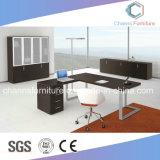 Form-Metallrahmen-Direktionsbüro-Tisch mit rückseitigem Schrank