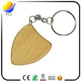 Corrente chave de madeira de venda quente da faia para presentes relativos à promoção