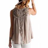 Form-Frauen-Spitze-abgleichende Leinenrückseiten-Verband-Bluse