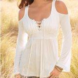 Form-Frauen-reizvoller dünner Hemd-Verband-trägerlose Bluse