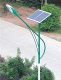 Energiesparendes Solarstraßenlaterneangeschalten vom Sonnenkollektor