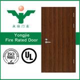 Естественной ые древесиной двери пожара Rated деревянные