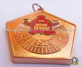 Ornement dur personnalisé d'émail d'en cuivre de placage (MJ-ES-020)