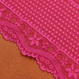 Textilschwarze Spitze-Stickerei-strickende Spitze