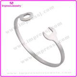 Braccialetto in bianco solido del braccialetto del polsino dell'acciaio inossidabile per gli uomini