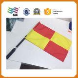 Bandierina stampata ecologica della mano del poliestere con Palo di plastica (HYHF-AF015)