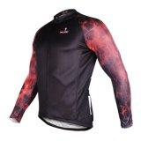 Людей способа лавы втулка красных холодных Breathable короткая задействуя Джерси быстро сухой носит