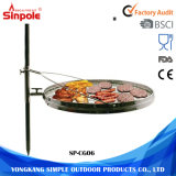 調節可能な高さ円形BBQの金網のグリルのバーベキューのオーブンのツール