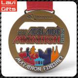 Medalla de encargo del maratón del metal de la alta calidad más valorada