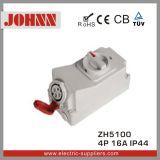 IP44 4p 16A Kontaktbuchse mit Schaltern und mechanischer Sicherheitskreis für industrielles