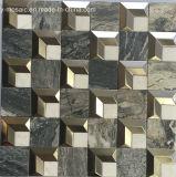 스테인리스 혼합 자연적인 돌 대리석 모자이크 타일 (FYSM109)