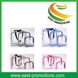 PVC 투명한 명확한 방수 형식 여행 세척 메이크업 화장품 부대