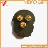 カスタムロゴの骨董品の黄銅によってめっきされる折りえりPinのPinのバッジ、葉Pinのギフト(YB-HD-103)
