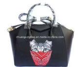 Sacchetto della signora sera del cuoio genuino, sacchetto di mano della signora Fashion