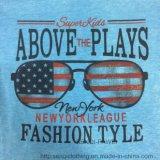 De blauwe Doeken van de T-shirt van de Jongen van de Was met het Glas die van de V.S. sq-6628 afdrukken